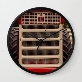 International Grill Farmall Tractor Front  Wall Clock