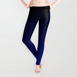 Black and Dark Blue Gradient 061 Leggings