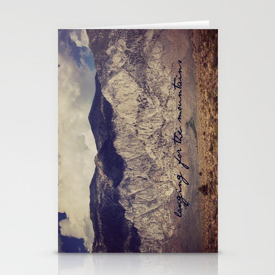longing for the mountains Stationery Cards