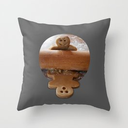 Attack of the Gingerbread man Throw Pillow
