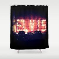 elvis Shower Curtains featuring Elvis! by Bree Craft