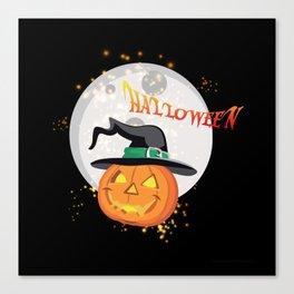Halloween's pumpkin Canvas Print