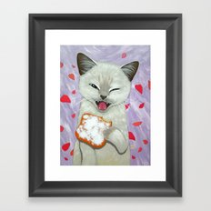 IN THE MOOD FOR BEIGNET Framed Art Print
