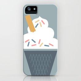 Ice Cream (Blue) iPhone Case