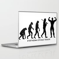 gym Laptop & iPad Skins featuring Gym Evolution by VeilSide07