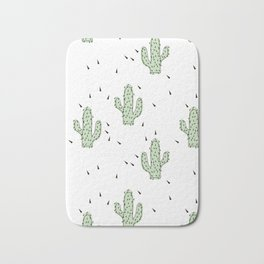 Cactuses abstract modern print simple Bath Mat