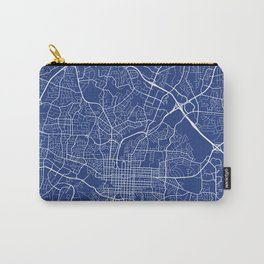 Raleigh Map, USA - Blue Carry-All Pouch