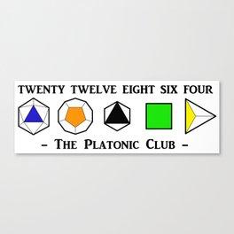 The Platonic Club Canvas Print