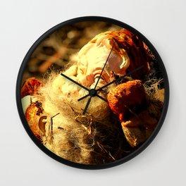 Ruined Santa Claus Wall Clock