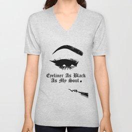 EyeLiner as black as my Soul Unisex V-Neck