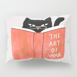 Cat reading book Pillow Sham