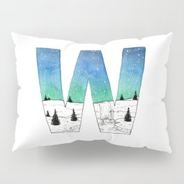 Galaxy Alphabet Series: W Pillow Sham