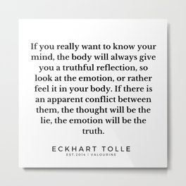 15  |Eckhart Tolle Quotes | 191024 Metal Print
