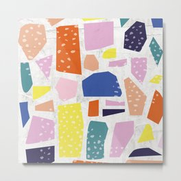 Bright Cut-out Collage Metal Print