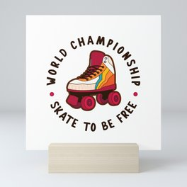 World Championship Roller Skate Mini Art Print