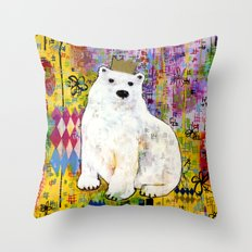 Bear Who Wears the Crown Throw Pillow