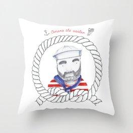Omero il marinaio Throw Pillow