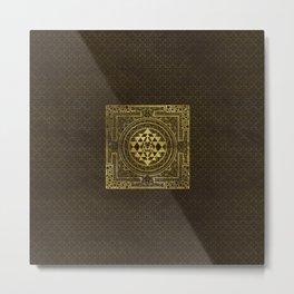 Gold Sri Yantra  / Sri Chakra Metal Print