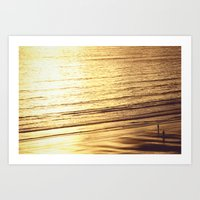 Sunset at Aldinga Beach Art Print