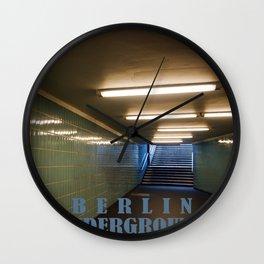 Tube Station - Fehrbelliner Platz - BERLIN UNDERGROUND Wall Clock