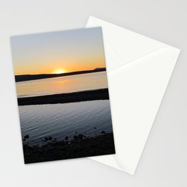 West Beach Sunset Stationery Cards