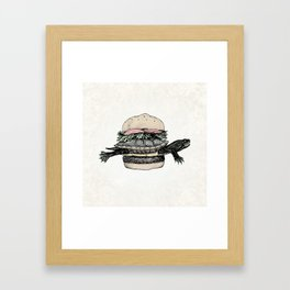 Turtle Sandwich | Desaturated Framed Art Print