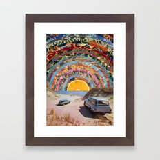 Orange sunset Framed Art Print