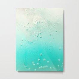 Ice Cold Teal Soda Metal Print
