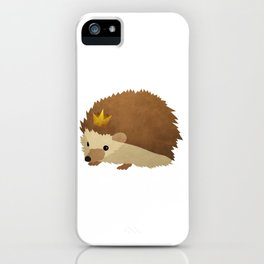 Hedgehog Crown iPhone Case