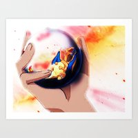 charizard Art Prints featuring Charizard by ALynnArts
