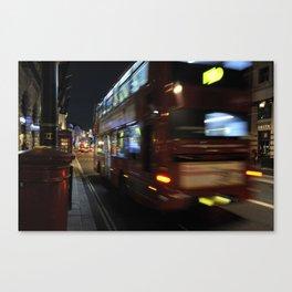 Night Bus Canvas Print