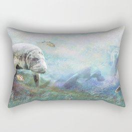 Sea Cows Rectangular Pillow