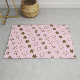 Asterisk-a-thon Pink Rug