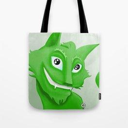 Kyrai - the green cat Tote Bag