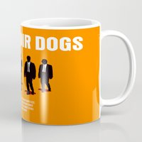reservoir dogs Mugs featuring Reservoir Dogs Movie Poster by FunnyFaceArt
