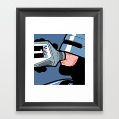 The secret life of heroes - Robot Drink Framed Art Print