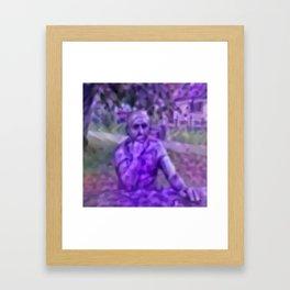 Thinking Lavandula Framed Art Print