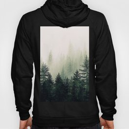 Foggy Pine Trees Hoody