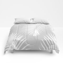 Gray Tropical Pattern Comforters