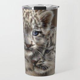 Snow Leopard Cubs - Playmates Travel Mug