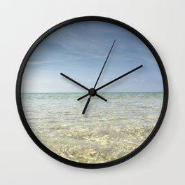 Clear Blue Beach Wall Clock