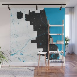 Chicago Illinois Minimalist Map (Light) Wall Mural