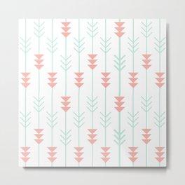 Arrows Pattern Metal Print