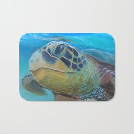 Sea Turtle Cameo Bath Mat
