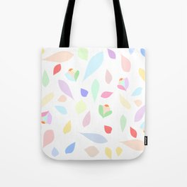 Colorful pastel leaves Tote Bag
