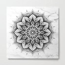 Imagination Marble Metal Print