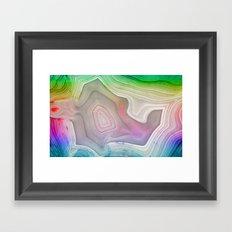 MINERAL RAINBOW Framed Art Print