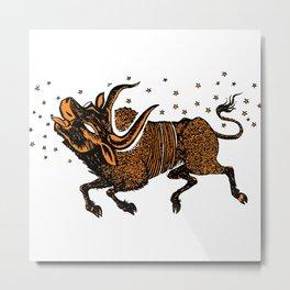 Crete bull Metal Print