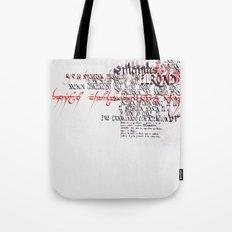 Calligraphic poster IV Tote Bag
