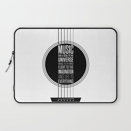 Lab No. 4 - Plato philosopher Inspirational Music Quotes  poster Laptop Sleeve